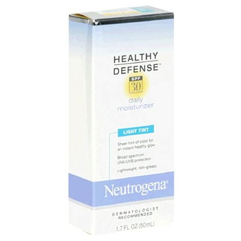 neutrogena healthy defense daily moisturizer light tint best neutrogena healthy defense daily moisturizer spf