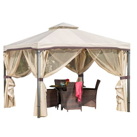 Outdoor Canopy Gazebo Sunset Beige Outdoor Gazebo Canopy By Nfusion At Garden