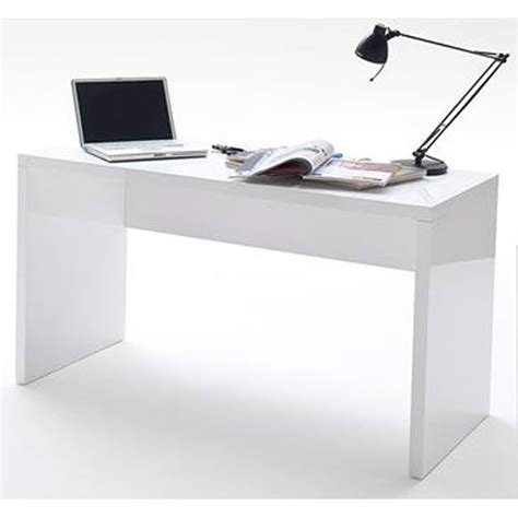 Mike High Gloss Finish Computer Desk In White 22071 Furnitur High Gloss Computer Desk
