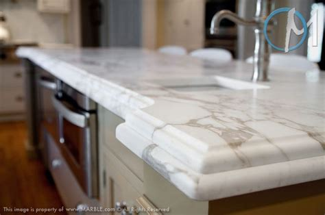 Marble Laminate Countertops by The Laminated Edge On This Calacatta Oro Island Really