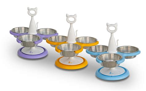 Three Bowl Cat Feeder enter to win a 3 bowl raised cat feeder from catswall design hauspanther