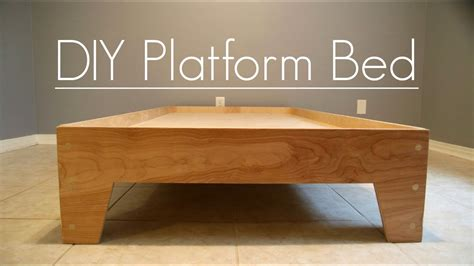 diy platform bed stone  sons plans  youtube