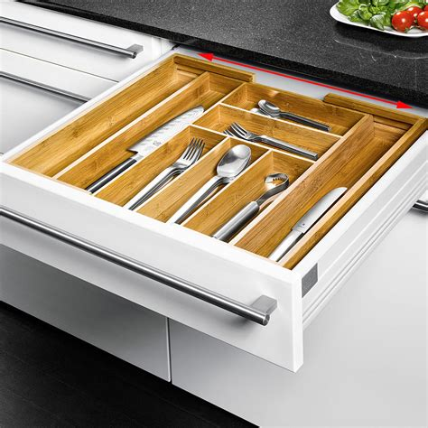 Buy Kitchen Knives Online buy expandable bamboo cutlery tray online