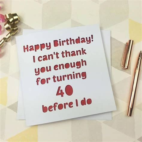 40th Birthday Card Ideas The 25 Best Ideas About 40th Birthday Cards On Pinterest