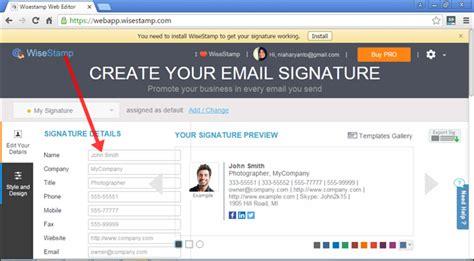 membuat email nama kita membuat signature email yang lebih profesional dengan