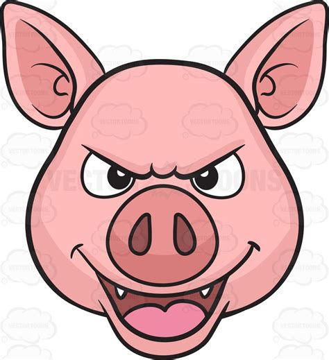 clipart pig a mischievous pig clipart by vector toons