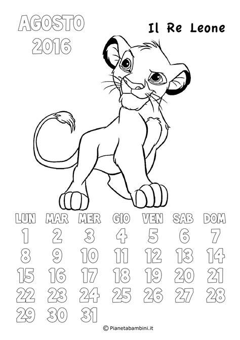 calendario degli eventi agosto 2016 in rome calendario 2017 degli animali disney da colorare per