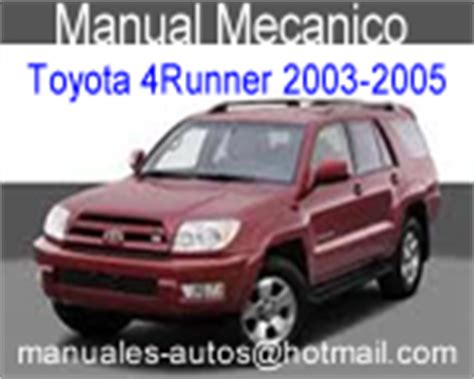 where to buy car manuals 2005 toyota 4runner auto manual toyota 4runner 2003 2004 2005 manual de mecanica y taller repair7