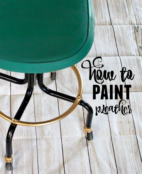 Painting Pleather Furniture by How To Paint Leather Pleather Refunk Junk