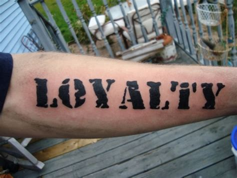 loyalty tattoo on forearm loyalty on right wrist