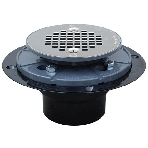2 in abs shower drain with strainer 821 2apk the home depot