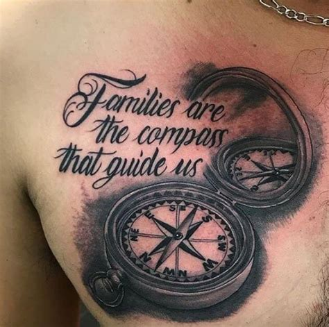 compass tattoo phrase 45 beautiful family tattoos with meaning 2018