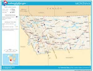 road map state montana state maps interactive montana state road maps