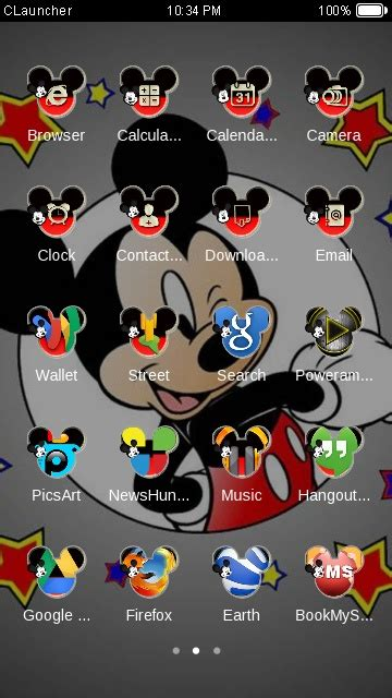 themes android mickey mouse download mickey mouse theme for your android phone clauncher