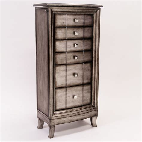 jewelery armoires natalie jewelry armoire silver leaf hives and honey