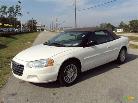 chrysler car white 2005 stone white chrysler sebring touring convertible