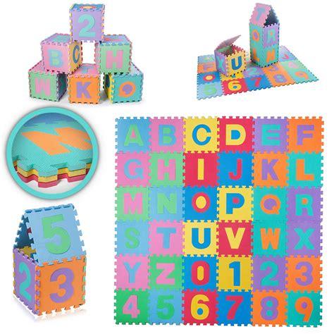 tappeto di gomma puzzle per bambini tappetino tappeto puzzle gioco gomma set 86 pezzi lettere