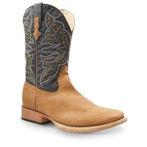 mens roper cowboy boots s roper square toe western boots 608724 cowboy