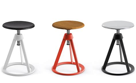 Modern Table Settings barber amp osgerby piton adjustable stool hivemodern com