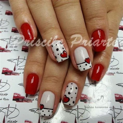 easy nail art red 18 simple valentine s day red heart nail art designs