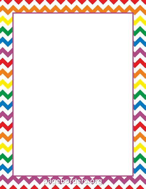 free chevron border template for word colorful chevron page borders free chlain