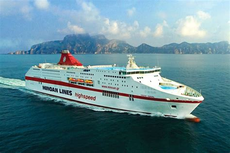 casino cruise europe minoan lines amends itineraries due to ferry workers