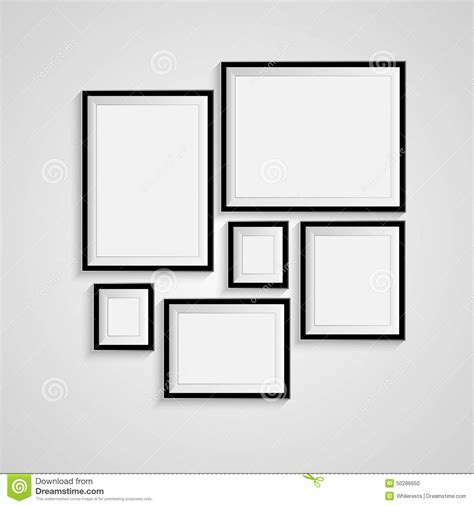 blank frame on a white background stock vector image