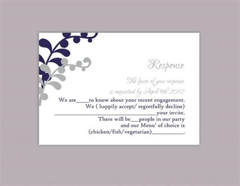 diy response cards template diy wedding rsvp template editable text word file