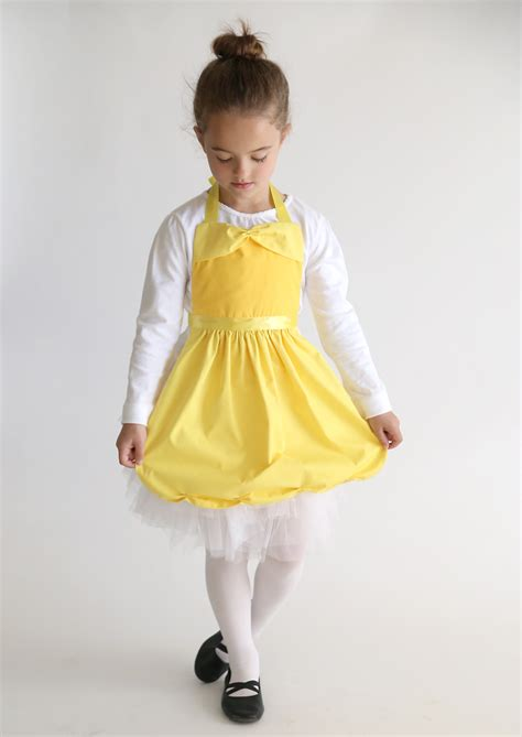 pattern for an apron dress free sewing pattern for belle princess dress up apron it