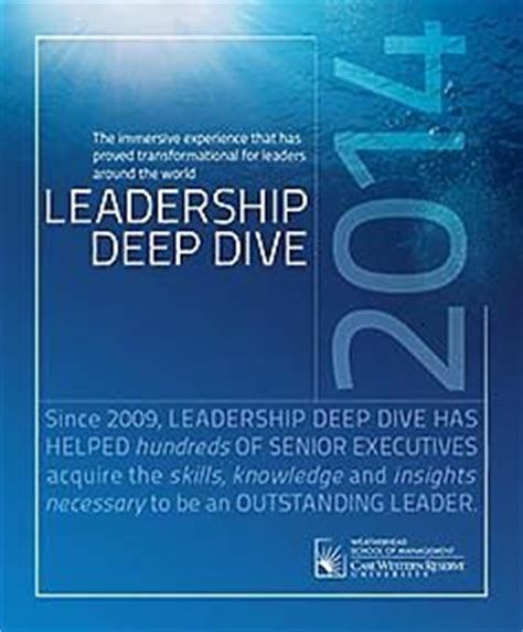 Cambridge Executive Mba Brochure by Leadership Dive At Weatherhead School Of Management