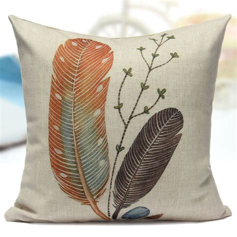 Coconut Pillow style cotton linen coconut tree lotus cycads