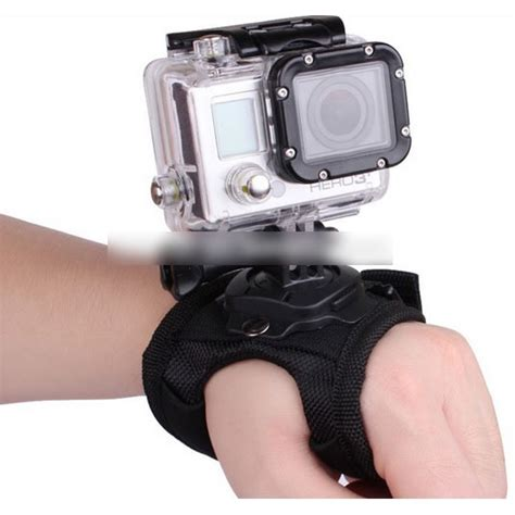 Gopro 3 Jakarta glove style velcro wrist band with mount for xiaomi yi and gopro 3 3 2 1 black