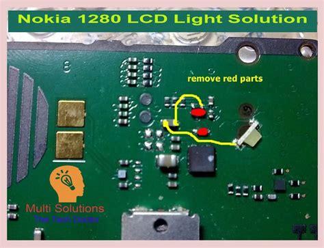 nokia 1280 display ways problem repair solution nokia 1280 lcd light ways jumpering solutions multi