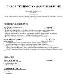 Field Technician Resume Sle by It Field Technician Resume Sales Technician Lewesmr