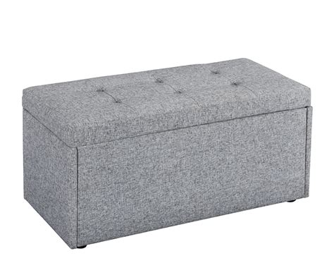 gray ottomans bloomfield grey fabric upholstered ottoman