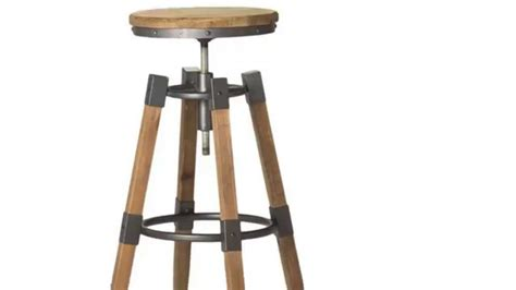 adjustable wooden bar stools big low aurelle home industrial wood and iron adjustable