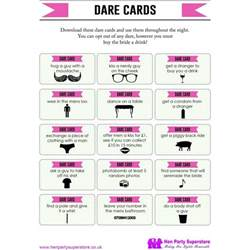 Printable Mad Libs Free Dare Cards Hen Party Game Hen Party Superstore