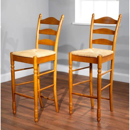 Ladder Back Bar Stools With Seats by Ladder Back Seat Bar Stools 30 Quot Set Of 2
