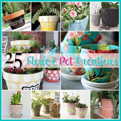 Things For Home Decoration by 25 Flower Pot Diy S The Cottage Market