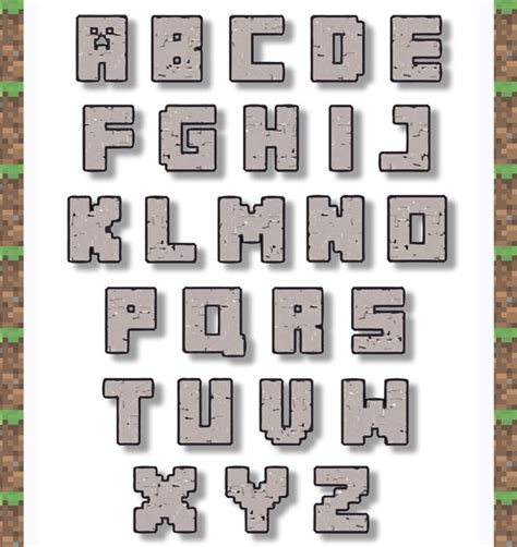 free printable minecraft alphabet letters unavailable listing on etsy