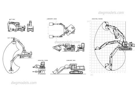 Sofa Drawing excavators cat liebherr komatsu dwg free cad blocks download