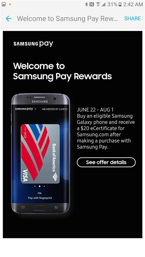 Samsung Store Gift Card - samsung pay app update adds support for samsung rewards card