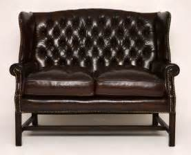 wing back couch antique deep buttoned leather wing back sofa antiques atlas