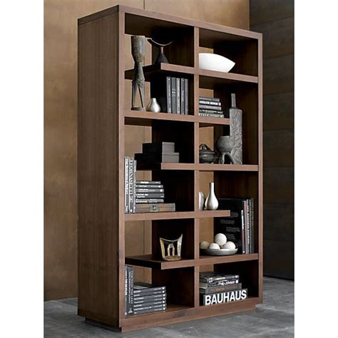 elevate walnut 68 quot bookcase crate and barrel shelves