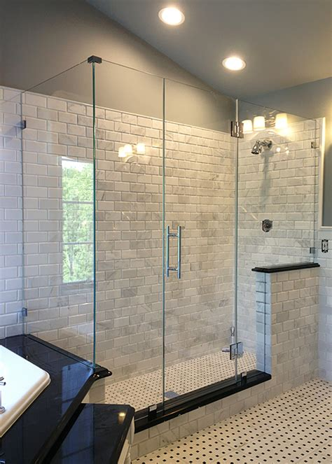 How Much Are Glass Shower Doors Two Fixed Panels Single Door And Side Return Manalapan Nj Showerman
