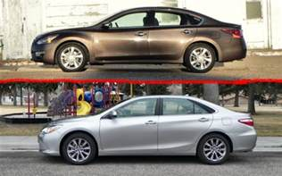 Nissan Sentra Vs Toyota Camry 2015 Nissan Altima Vs 2015 Toyota Camry A Point By Point