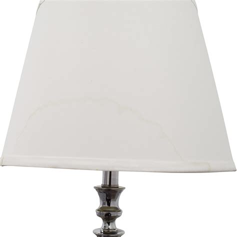 Silver Table L Shade by 58 Silver Table L With White Shade Decor