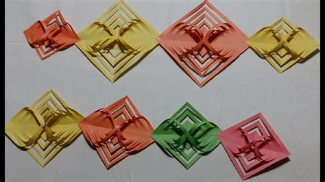 How To Make Origami Hanging Decorations - paper made room decoration origami how to make hanging