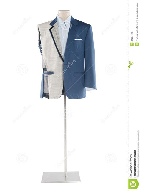 suit on a tailor s mannequin over white background royalty