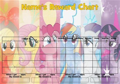 printable reward charts my little pony my little pony d job behavior reward homework chart free